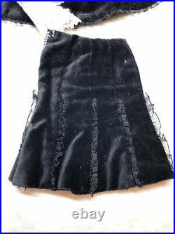 16 Tonner Ellowyne Wilde Chills Outfit Goth Black Coat Skirt Etc. No Shoes #U