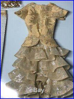 16 Tonner Outfit Antoinette Brilliant Fabulous Gold Glitter DressMint NRFB #T