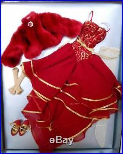 18.5 Evangeline GhastlyRed Sunset OutfitFit Hard Plastic & Resin DollNRFB