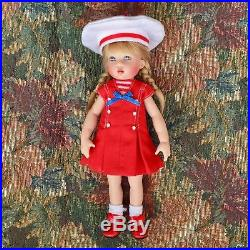 7.5 KISH RILEY Doll Redressed in Tonner Original Betsy McCall Red SAILOR Outfit