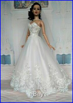 Berlicy WEDDING DRESS Outfit for dolls 22 TONNER American model