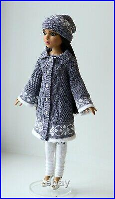 Clothes for doll 1/4. Knit outfit for Tonner Doll Ellowyne Wilde 16 in