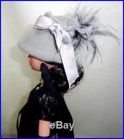 Midnight Silver Steampunk Ellowyne Wilde Tonner 16 Doll in OOAK Fashion Outfit