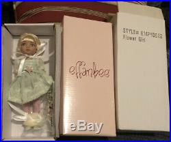 NRFB Tonner EFFANBEE Doll Patsyette Flower Girl 7.5 Doll In Wedding Outfit