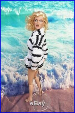 OOAK Marilyn Monroe Tonner Doll 16 Repaint Classic Custom Outfit Beach Sweater