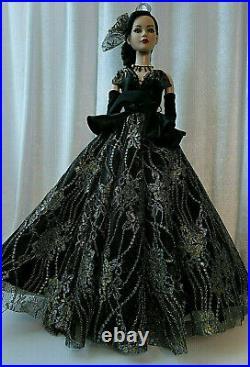 OOAK OUTFIT only DOLL TONNER AMERICAN MODEL 22 Robe noire dentelle
