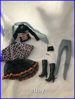 Off the Grid OUTFIT + earrings + purse Tonner Ellowyne Wilde doll fashion