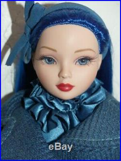 Ooak Ellowyne A Case Of The Blues With Glass Eyes In Complete Outfit