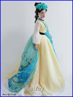 Outfit/Dress for Tonner doll 16 Tyler. Turquoise and anemones