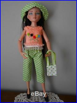 Outfits doll Ellowyne Wilde Tonner doll 16 Pull/ Chapeau/ Pantalon/ sac