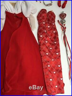 QUEEN OF HEARTS OUTFIT ONLYfits 16 Tonner Tyler Fashion Dolls Red&White Heart
