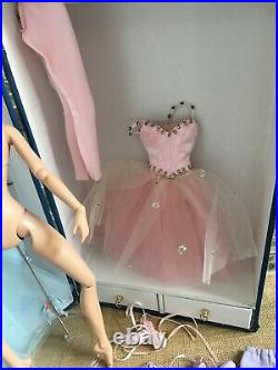 Tonner NYC Ballet Emilie Ballerina Doll with Stand + 3 Original Ballet Outfits