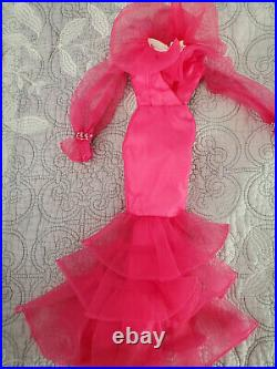 Tonner Pink Obsession gown for 16 Brenda Starr, Outfit + Beaded Hat & Belt Only