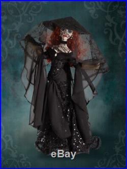 Tonner Wilde Imagination Evangeline Ghastly Mourning Tears Black Outfit