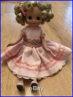 Very Rare 8 Betsy Mccall Doll Little Lady At Tea & Rosebud Outfit