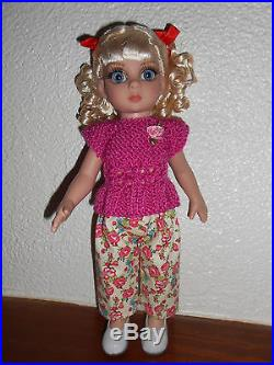 Vêtements outfits doll Boneka Dianna Effner ou Patsy Tonner 25 cm 10 -Framboise