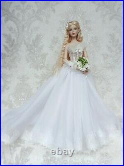 Wedding Dress and jewelry Outfit for dolls 16 Tonner Antoinette body